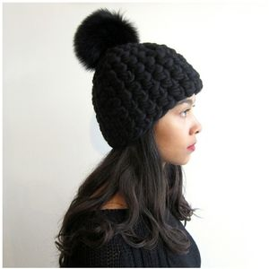 MISCHA LAMBERT Merino wool Hat Black